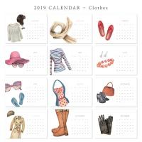[2019 CALENDAR] Clothes