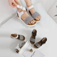 [애슬릿]통굽 여성 발목 스트랩 스포티 샌들