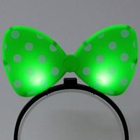 LED점등 리본머리띠 (그린)