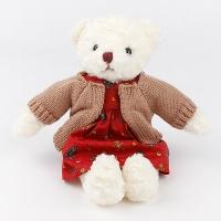 스웨터 테디베어 인형-베이지(35cm)