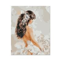 [ALB] DIY유화그리기 흰드레스의 소녀 [a40_65]