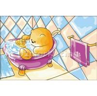 DIY 명화그리기 - DIY  목욕하는곰 (C038) 20x30 그림 (유화/그림그리기/직접그리기/아크릴/취미/색칠)