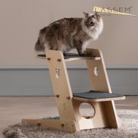 라샘 자작나무 원목 고양이 오리 캣타워 기본형