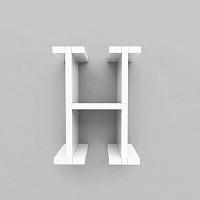 미니큐빅스 이니셜 벽선반-H