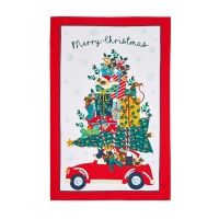 크리스마스 하운드도그 면 티타올(UK)