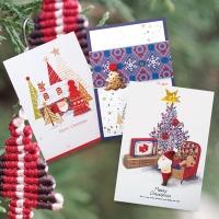 크리스마스카드/성탄절/트리/산타 성탄 크리스마스 카드 FS1024 Set456 (3종 한세트)