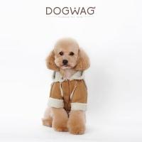 [도그웨그 DOGWAG] 강아지&고양이 무스탕 자켓
