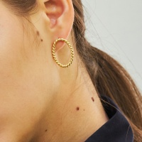 simple rope earring-L
