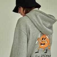 (UNISEX) 벌룬프렌즈 오버핏 헤비코튼 기모 후드 GY