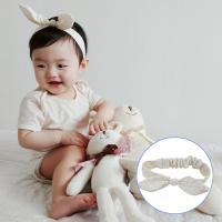 오가닉블루별리본아기헤어밴드(오가닉신생아헤어밴드