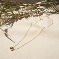 14k goldfild ball necklace
