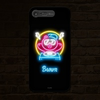 iPhone7 8 LINE FRIENDS NEON BROWN