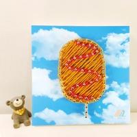 꼬마 핫도그 스트링아트 만들기 패키지 DIY (EVA)