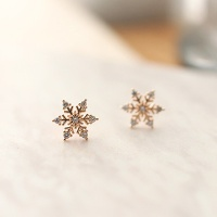 snow flower earring