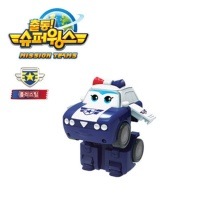 슈퍼윙스3 폴리스팀 미니변신 김순경 로봇 장난감