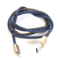 Plusus LifeStar iPhone/iPad Cable Denim blues 1m