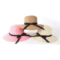 여름 햇빛 왕골 모자