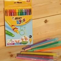 [BIC] 돌려서 사용하는..빅 KIDS Turn & Colour Twist 색연필 12색 HA165-1