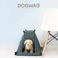 [도그웨그 DOGWAG] 강아지&고양이 원터치 스트라이프 텐트