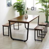 스틸뷰 1200식탁 각진프레임 테이블