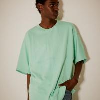 오버핏 시그니처 로고 티셔츠(남여공용) 민트