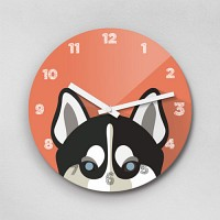 Reflex Siberian Husky 2type 무소음벽시계-CDSH
