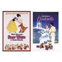 디즈니 프린세스 프레임 포스터 세트 2