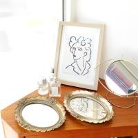 로렌 바로크 미러 트레이 (2color)