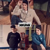 KRUNK 크렁크 남성용 맨투맨+후드짚업 3종 셋트