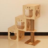 [봉봉펫닷컴] 고양이 미니룸 계단식 나무 캣타워 B