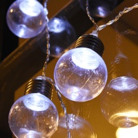 LED 10P 건전지(밧데리)꼬마에디슨 전구 [백색]
