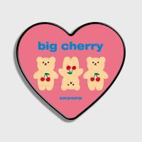 Three cherry big bear-pink(하트톡)