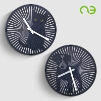 앤쓰리 강아지 고양이 회전벽시계