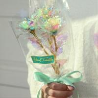 홀로그램장미 꽃다발 세송이 크리스탈장미 기념일