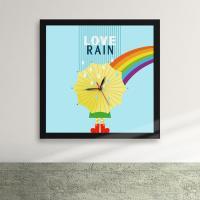 cy557-비오는날씨가좋아액자벽시계_디자인액자시계