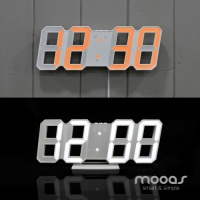 [Mooas] 무아스 LED벽시계 빅사이즈 오토듀얼컬러 프리미엄