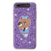 라인프렌즈 iPhone7 + CHOCO Violet LIGHT CASE