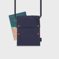 Two button book pouch cross_Navy