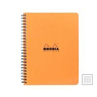 [로디아]클래식 스프링 노트북 A4(오렌지) 격자 193028