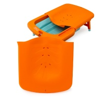 [마더스로렐라이] 아기욕조 전용 샴푸바디 목욕등받이/샴푸베드 오렌지