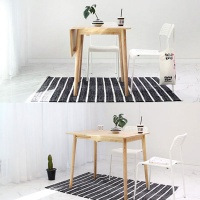 벤트리 원목 라운디시 슬라이딩 테이블 소