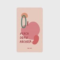 [어프어프] 보조배터리 Peach draw-pink
