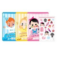어린이화장품 플로릿 스티커 마스크팩 3종