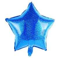 [인디고샵] 블루 반짝이 스타 호일풍선