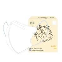 아이다움 흰색3D 유아 어린이 캐릭터 마스크
