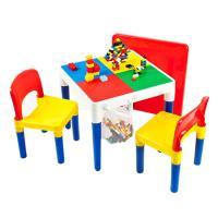 NEW 블럭놀이 레고테이블 2-IN-1/책상변신/의자2개