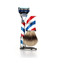 [오메가브러쉬] shaving brush SET F6735.6 (Silver Tip)