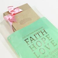 선물포장 비닐백(중)_Faith Hope Love (20매)_민트