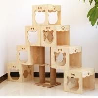 [봉봉펫닷컴] 고양이 미니룸 계단식 나무 캣타워 A