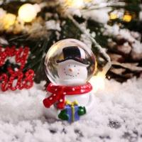 크리스마스 인형 워터볼 스노우볼 4.5cm (눈사람)